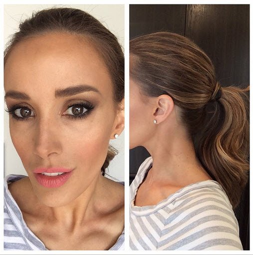 Bec Judd's make up