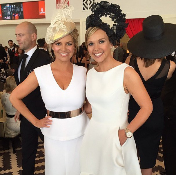 Rebecca Maddern and Edwina Bartholomew. Neither of whom are allowed to drink red wine today because #stains.