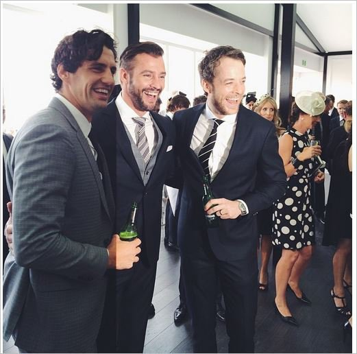 Kris Smith in a Hamish and Andy sandwich
