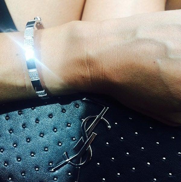 Megan Gale's sparkly bracelet.