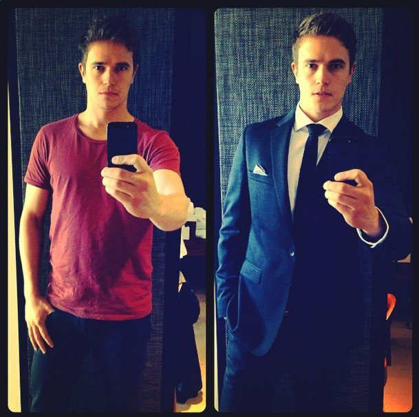 Home and Away's Nic Westaway. Dudes...It probably took him 10 mins to do that.