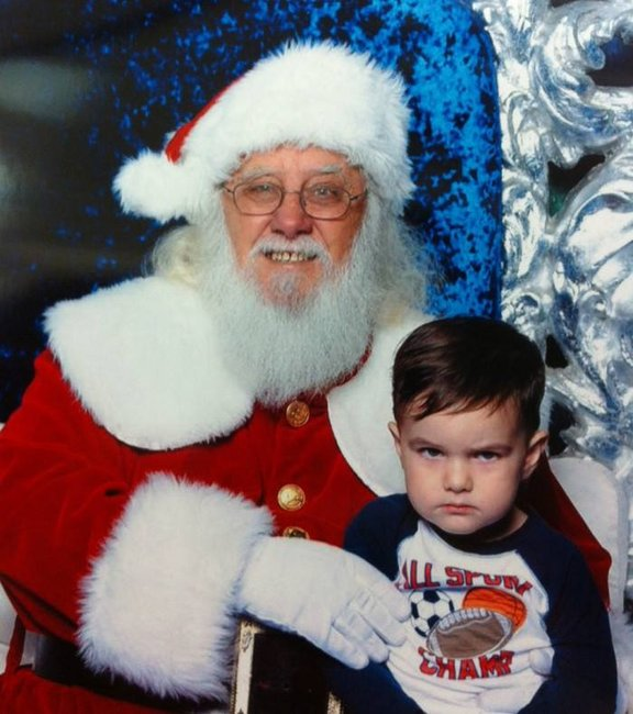 Don't look too happy, child It's only the strange man who delivers you presents once a year.
