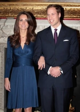 Within 24 hours of announcing their engagement, the blue dress Kate Middleton was wearing -a £385 Issa dress -completely sells out at Harvey Nichols in London.