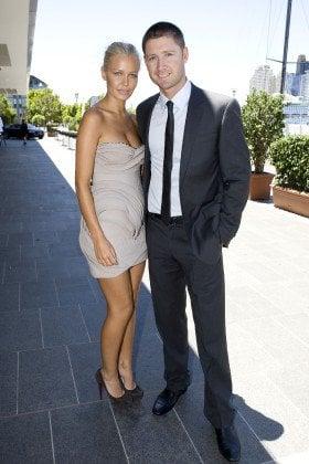 Lara Bingle and Michael Clark