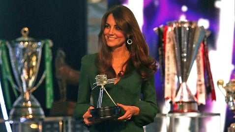 Kate Middleton at the BBC Sports Personality of the Year awards ceremony