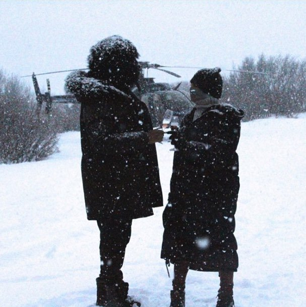 Bey and Jay-Z had a white Christmas.