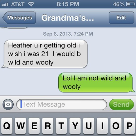 Texts from Grandparents