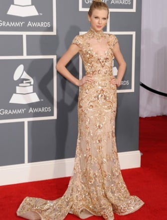 Taylor Swift at the 2012 Grammys.