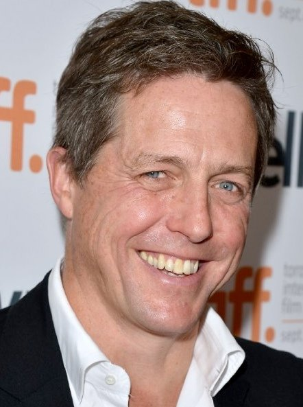 Hugh Grant, who played The Prime Minister, now. Image via IMDb/Getty.