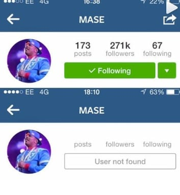 Rapper Mase deleted his account after he lost millions.