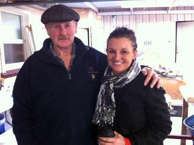 Meeting with West Coast identity Gordon Sutton (Image from Facebook- Jacqui Lambie)