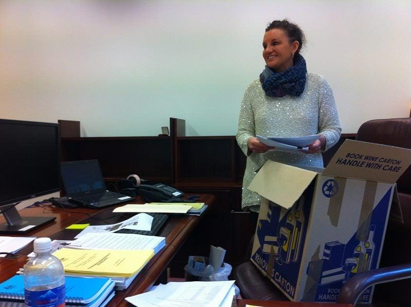 Preparing for Parliament (Image from Facebook- Jacqui Lambie)