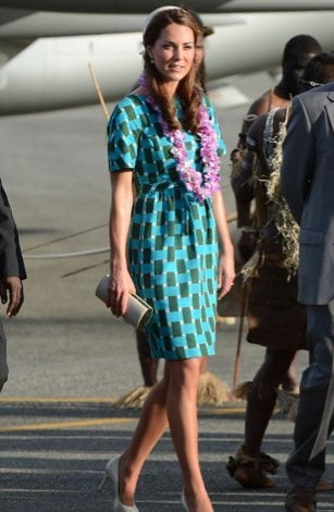 Kate arriving in the Soloman Islands.