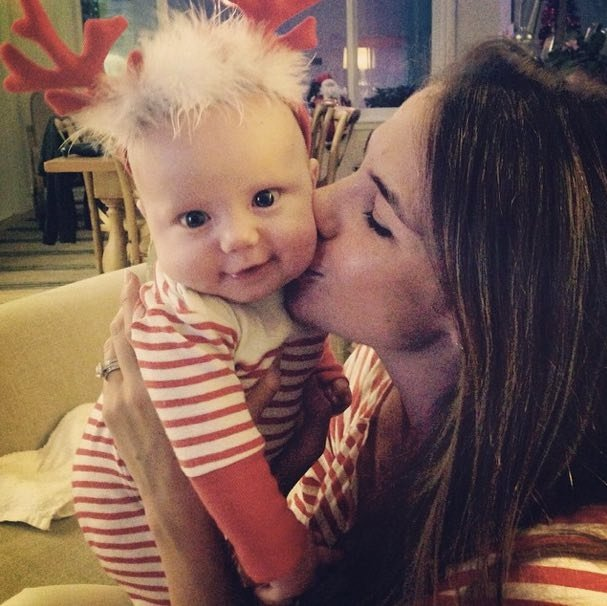 Kate Ritchie with baby daughter Mae.