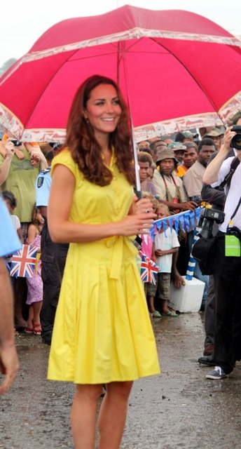 Kate at the opening of Commonwealth Street, Honiara