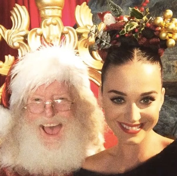 Katy Perry with the old man himself.