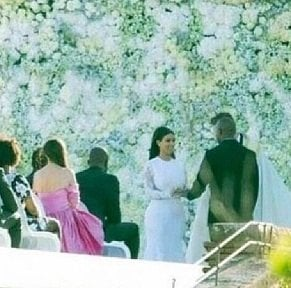 A leaked image of the ceremony.