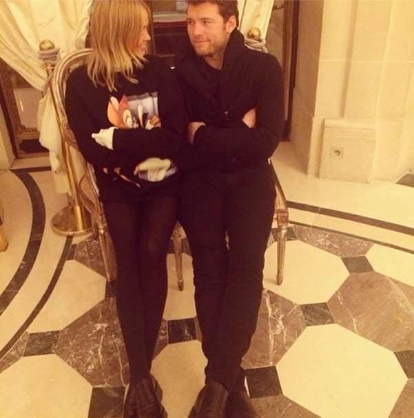 Lara Bingle and Sam Worthington in Paris