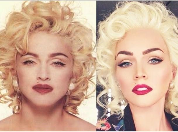 Madonna channelling Marylin Monroe (via @kandeejohnson Instagram)