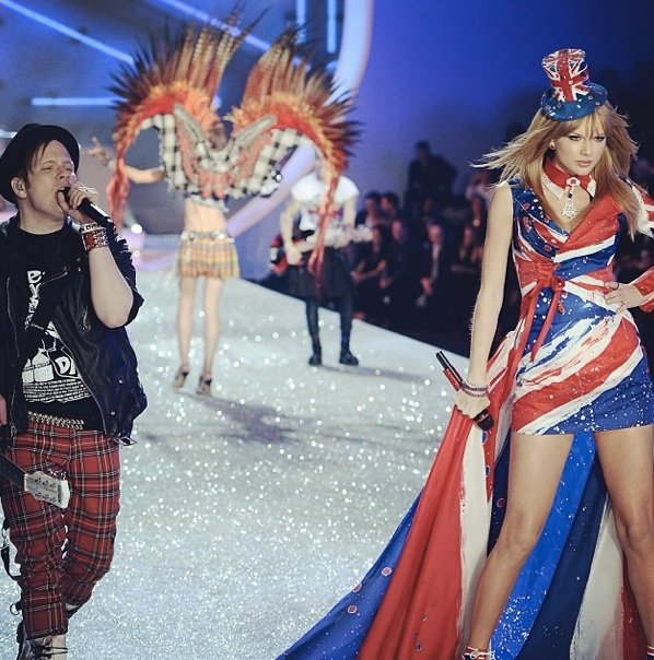 Performing during the Victoria's Secret show in 2013