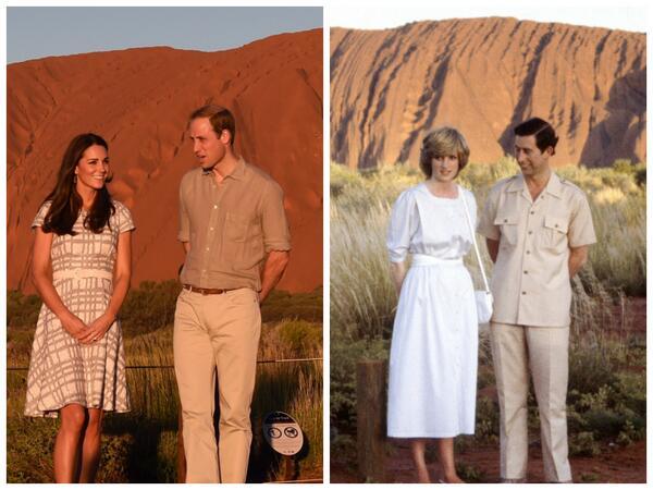 Royal couple at Uluru