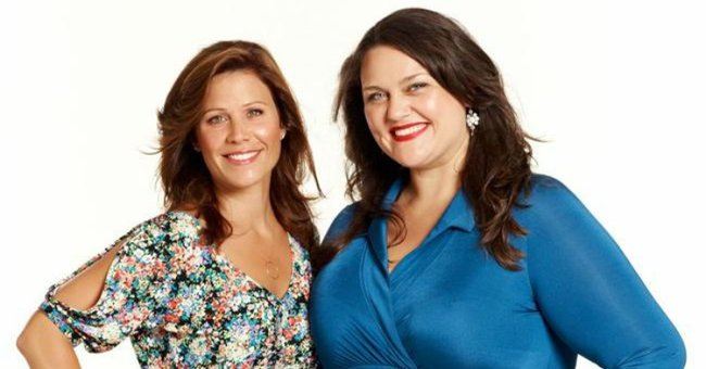 Chrissie Swan in a promotional photo for her former breakfast radio show with Chrissie Swan & Jane Hall