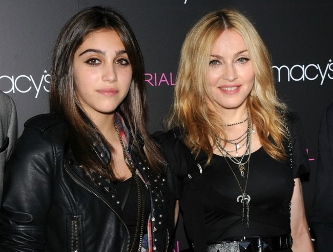 Madonna's daughter is at college and she's totally worried.
