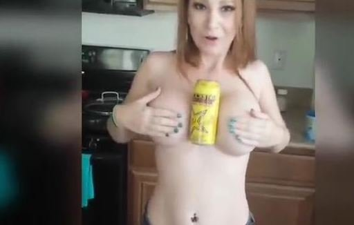 hold a coke with your boobs