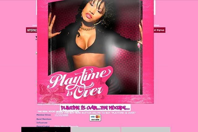 old celebrity myspace pages