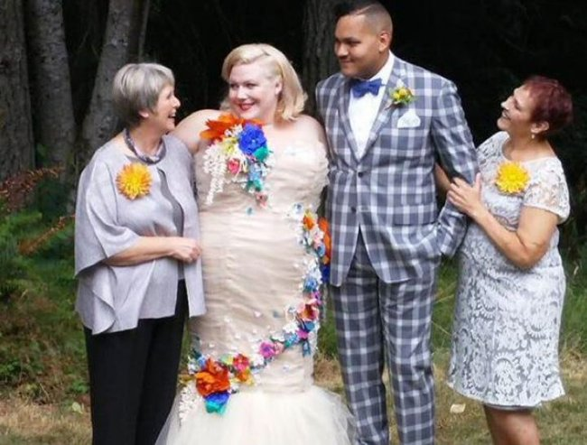 Photo of Guardian writer Lindy West's wedding