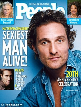 Matthew McConaughey, 2005 People's Sexiest Man Alive covers