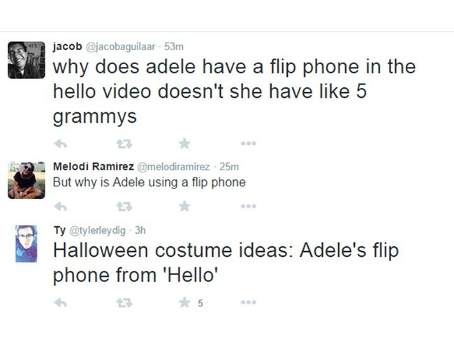 Why Has a Flip Phone in Hello Clip, the Singer Adele?