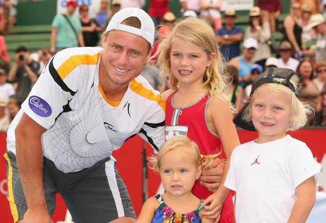 For about the tennis how cute are Lleyton Hewitt s kids