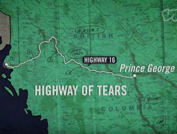 The Highway Of Tears Why Are Women Going Missing - Highway of tears canada map