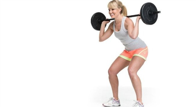 squat with a bar 5
