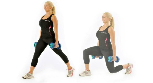 lunges with dumbbells 4
