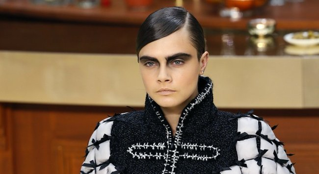 Cara Delevingne dark brown hair