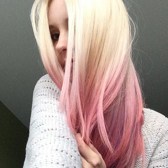 Pink And Purple Mermaid Hair: Colour Change: From Brunette Beauty To Pastel Pink Balayage