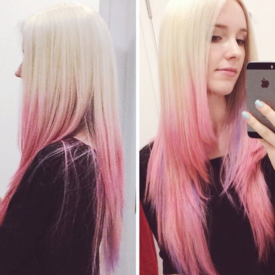 Colour Change From Brunette Beauty To Pastel Pink Balayage