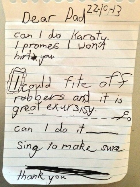Laugh-out-loud notes from kids