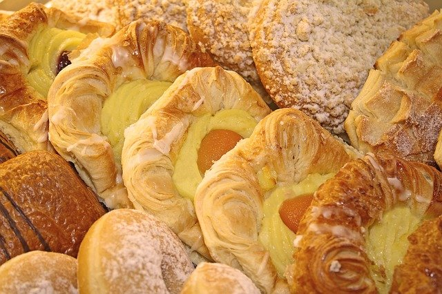 Commercial-made pastries
