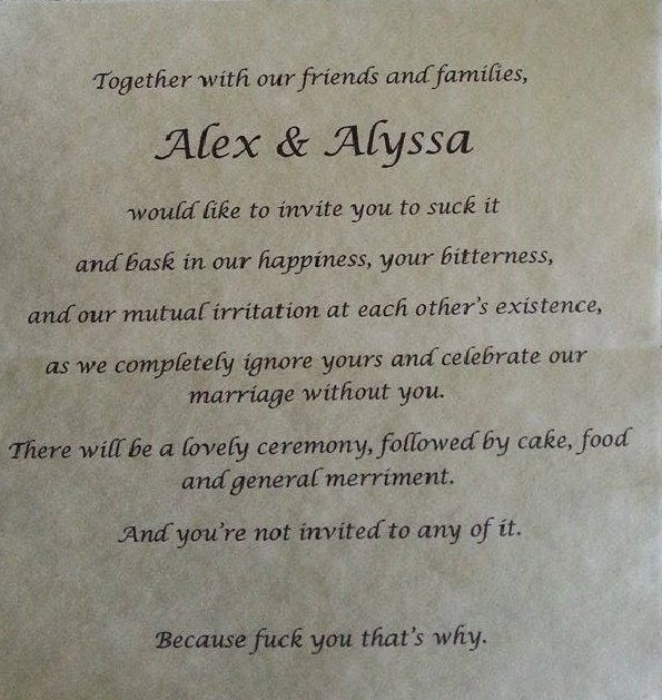 Of All The Worst Wedding Invitations This Is Definitely Winner