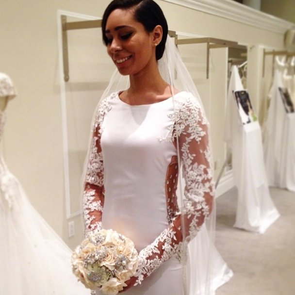 how to make arms look smaller in wedding dress