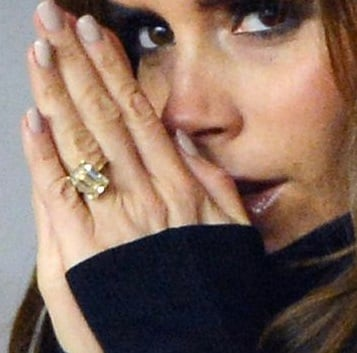 For Victoria Beckham engagement rings could be rotated every day wow