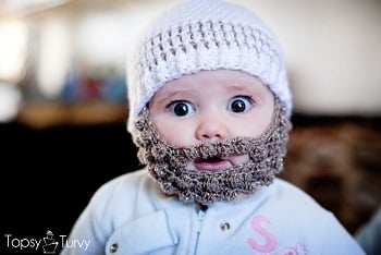 This crochet baby beard hat is ridiculously cute f01b8938902