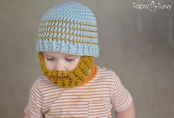 This crochet baby beard hat is ridiculously cute 1d10ce47d3c6