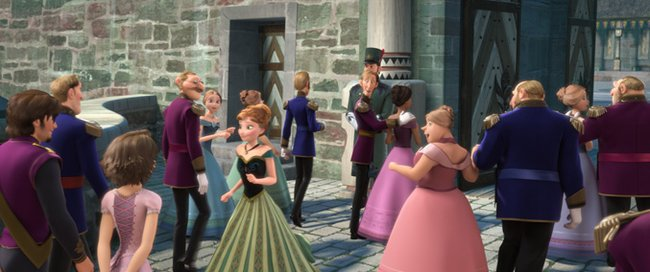 Rapunzel makes a cameo in Frozen