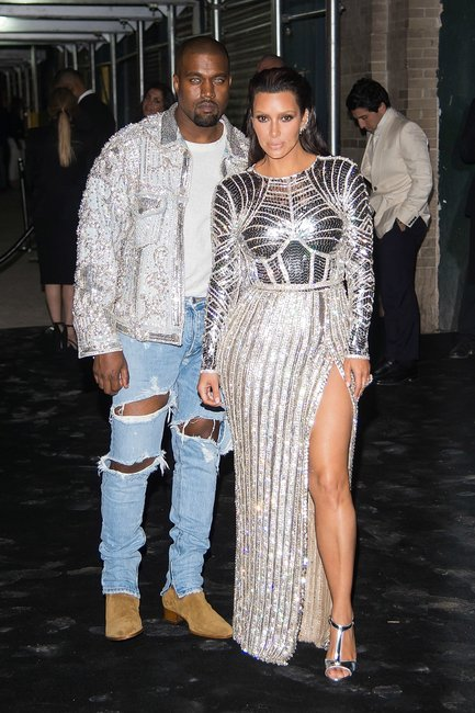 Kim Kardashian and Kanye West at the 2016 Met Gala.