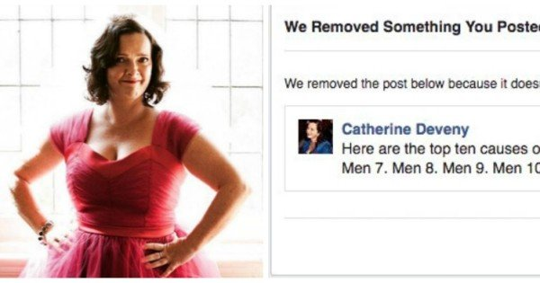 Catherine Deveny >> Catherine Deveny Has Been Banned From Facebook