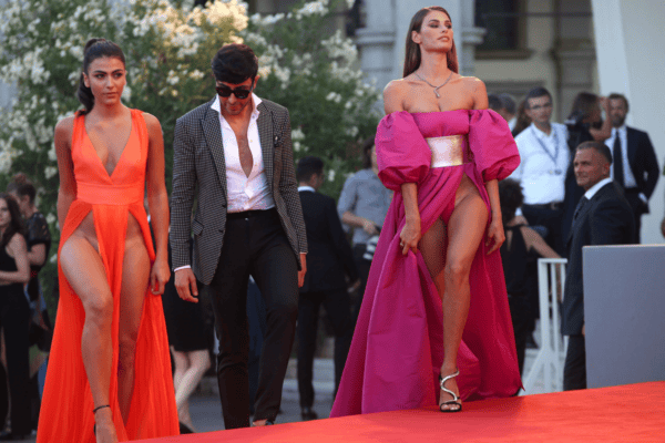 The no underwear dress Venice Film Festival causing waves.
